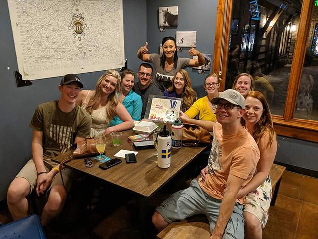 Beer NV DJ Trivia Team Blue LInes