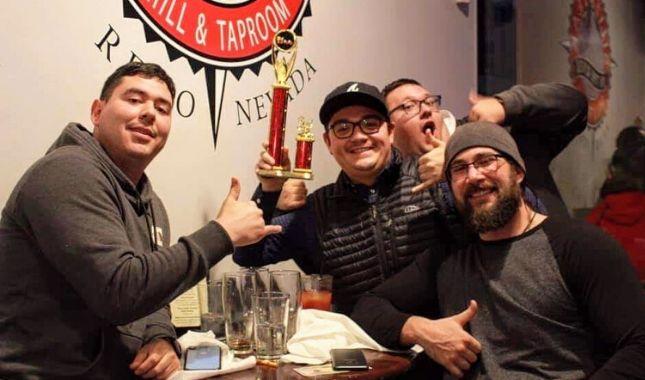 DJ Trivia Championship 3rd Place Team Too Many Chefs