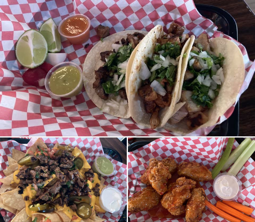 Some of the food options while you play trivia at Chica's bar in Sparks